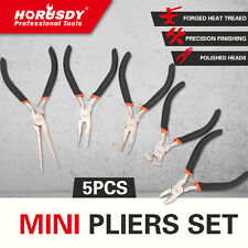5PC Mini Pliers Set forging Jewelry Cutting Bending Comfort Grip Jewelers Plier