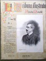 La Tribuna Illustrata Mensile Gennaio 1895 Antonelli Brunetiere Palestrina Dei