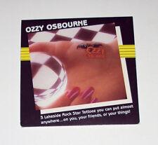 Ozzy Osbourne Rare Lakeside Tattooz 1983 Bark At The Moon Sealed 3 Pack Tattoos