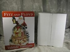 2010 Fitz Floyd Yuletide Traditions Here Comes Santa Claus Musical Water Globe