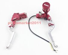 """Adelin CNC PX-2 Brake Clutch Levers Master Cylinder For Ruckus Zoomer 7/8"""" Red"""