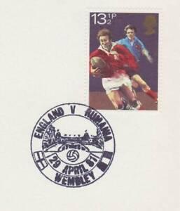 GB Stamps Souvenir Postmark Football, Wembley, sport, Rumania, ball, Towers 1981