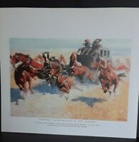 "Frederic Remington Print-""Downing the Night Leader"" Native American,Western Art"