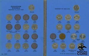 Lot of 2: 1922-1960 Canadian 5 Cents Collection in Whitman Album (74 coins)