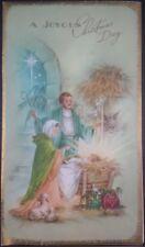 Vintage Brookline Used Christmas Card A JOYOUS CHRISTMAS DAY