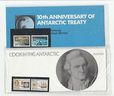 1971-1972 AAT Antarctic treaty and Cook (black mount) presentation packs