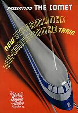 El cometa Aire Acondicionado Tren Ferrocarril de viaje A3 arte cartel impresión