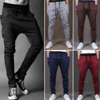 Fashion Men's Casual Pant Trousers Jogger Dance Soft Harem Pants Slacks