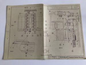 Deckel FP1 Fräsmaschine Aus und Einbau der Parallelführung Beschreibung Maschine