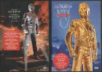 Michael Jackson History Video Greatest Hits Vol 1 + 2 Dvd Billie Jean Thriller