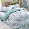 Celestial Mandala Teal Duvet Cover and Pillow Case Bedding Set All Sizes