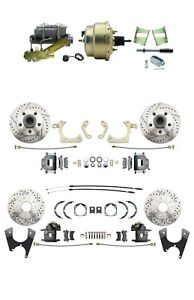 1959-1964 GM Front and Rear High Performance Power Disc Brake Kit w/Booster, PV