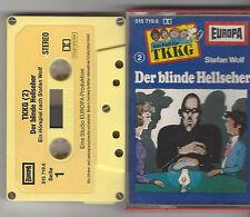 TKKG -MC Folge 2  - DER BLINDEHELLSEHER GELB GELB 5 x geschraubt  RAR