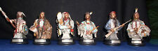 American Indian Chiefs Crazy Horse Sitting Bull  Geronimo Apache Set of 6
