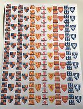 180 ADESIVI Personalizzati Soldati Medievale Inglese CAVALIERE UNIFORM-TAGLIA-LEGO Tronco