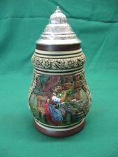 Vintage German Beer Stein Thewalt 1/2L Mold #1299 Lovers Excellent Condition