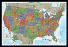 UNITED STATES/USA Wall Map Poster - National Geographic Decorator - Paper