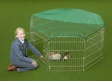 VivaPet Outdoor Octagon Rabbit Run Cage Pen with Sun Protection Net Cover, 55...