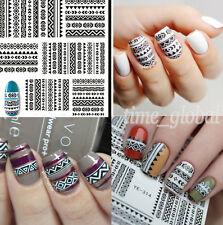 Nail Art Water Decals Transfer Stickers Tribal Geo Design Nails Decoration Tips
