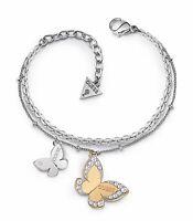 Guess UBB78056  Damen Armband zweifarbig Kristall neu
