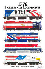 "Bicentennial Locomotives Poster #1  11""x17"" Poster by Andy Fletcher signed"