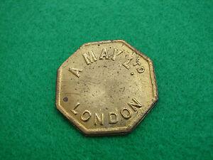 London Market Token A May 4 Shillings Octagonal Shaped Global Shipping