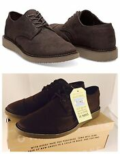New In Box TOMS Men's Brogue Chocolate Brown Aviator Twill Oxford Size 13