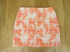 LADIES UK SIZE 8/EURO 36 PEACHES & CREAM PALM DESIGN SKIRT BY NEW LOOK.BRAND NEW