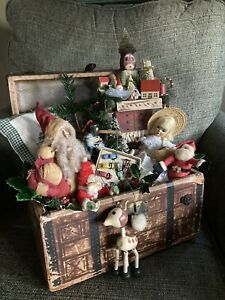 Antique Christmas Toy Trunk
