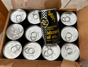 Vintage NOS SKI DOO Snowmobile Competition Special Blizzard Oil Advertising Cans