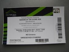 QUEENS OF THE STONE AGE  LONDON  18/11/2017  TICKET
