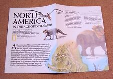 Vintage National Geographic January 1993 Map North America In Age Of Dinosaurs