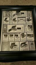 Decca Home Entertainment Product Retail Promo Poster Ad Framed!