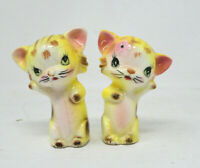 Vintage Cute Yellow Kittens Salt and Pepper Shakers