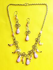 FINE PERUVIAN JEWELRY NECKLACE AND EARRINGS SETS MADE OF ALPACA SILVER  11-15