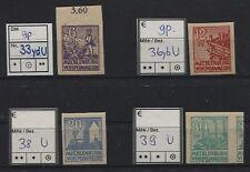 SBZ 33 Y D u, 36 Y B u, 38 u Und 39 u Postfrisch Z. T.Bpp-geprüft (B04654)