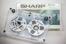 Sharp Audio Tape silber handmade Reel to Reel Cassette Kassetten Bänder