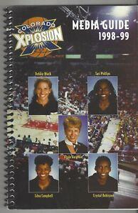 1998-99 ABL COLORADO XPLOSION MEDIA GUIDE 80 PAGES DEBBIE BLACK PHILLIPS +RARE +