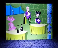 "Shag Rare 2005 Pink Panther 40 ""Shared Drinks"" Greeting Notecard Josh Agle -New"