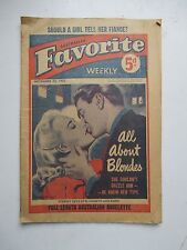 AUSTRALIAN FAVORITE WEEKLY Nov 29, 1952 Novelette of Humor Romance Illustrated