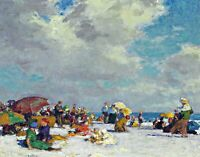 Summer Afternoon by Edward Potthast Life Art Repro Made in U.S.A Giclee Prints