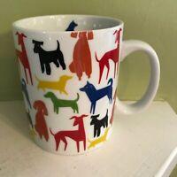 Fringe Studio Ceramic Multicolor Dogs 14 oz. Coffee Mug