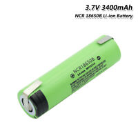 High Drain 20A 3400mAh NCR 18650B Rechargeable Battery With DIY Nickel Tabs 2A6