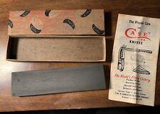 "Rare Vintage Case Cutlery Pocket Knife XX - 6"" Oil Stone With Original Box"