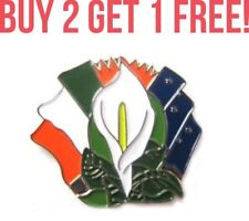 Irish Ireland Easter Rising Republican Lily Starry Plough Badge Pin 1916 Flag