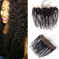 Lace Frontal Closure Bresilien Bouclé Cheveux Vierge 13x4'' Frontal Kinky Curly