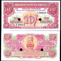 GREAT BRITAIN BRITISH ARMED FORCE 10 SHILLINGS P M28 UNC