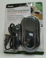 Westek Indoor Slide Foot Control Lamp Dimmer Black 6089B New 500W Max