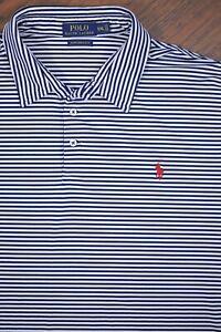 Polo Ralph Lauren Performance Polo Shirt Dark Navy Stripe Men's XXL
