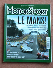 Motor Sport June 2003 LeMans French winners, Renault A442B, Peugeot 905